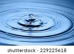 water drop close up | Shutterstock . vector #229225618