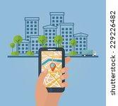 vector online find or location  ... | Shutterstock .eps vector #229226482