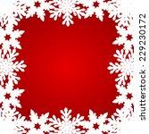 christmas red background  | Shutterstock .eps vector #229230172