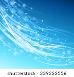 snowflakes background | Shutterstock .eps vector #229233556