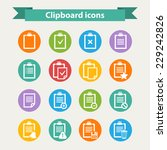 vector white clipboard icons...