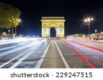 arch of triumph in the evening  ... | Shutterstock . vector #229247515