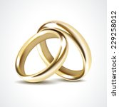 gold wedding rings isolated | Shutterstock . vector #229258012