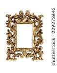 gold carved picture frame... | Shutterstock . vector #229273642