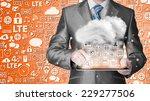 cloud computing  technology...   Shutterstock . vector #229277506