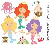 mermaid vector illustration | Shutterstock .eps vector #229288162