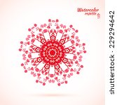 lace element socket   red... | Shutterstock .eps vector #229294642