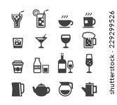 drink icon set | Shutterstock .eps vector #229299526