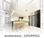abstract sketch design of... | Shutterstock . vector #229299922
