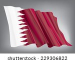 qatar flag on a gray background   Shutterstock .eps vector #229306822