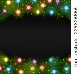 multicolored christmas lights... | Shutterstock .eps vector #229326886