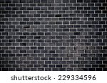 black tile wall | Shutterstock . vector #229334596