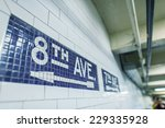 8th avenue subway sign in new... | Shutterstock . vector #229335928