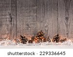 christmas decoration with lighs ... | Shutterstock . vector #229336645