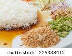 nasi kerabu or kao yum  southen ... | Shutterstock . vector #229338415