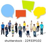 diverse people posing with... | Shutterstock . vector #229339102