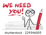 we need you  stick figure... | Shutterstock .eps vector #229346005