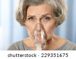 portrait of a senior woman with ... | Shutterstock . vector #229351675
