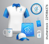 corporate identity blue... | Shutterstock .eps vector #229386376