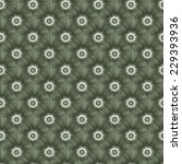 Tiled Explosion in Monochrome / A digital fractal pattern with a tiled monochrome explosive design in green. - stock photo
