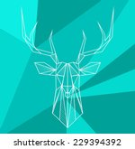 vector hipster abstract... | Shutterstock .eps vector #229394392