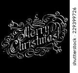 vector calligraphic text merry... | Shutterstock .eps vector #229399726