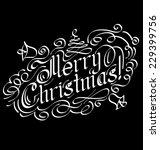 vector calligraphic text merry... | Shutterstock .eps vector #229399756
