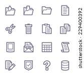 document web icons set   Shutterstock .eps vector #229400392