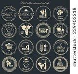 label set for restaurant and... | Shutterstock .eps vector #229402318
