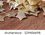 golden stars decoration over... | Shutterstock . vector #229406698