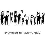 people silhouettes of different ... | Shutterstock .eps vector #229407832