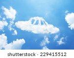 Clouds Shaped Like A Ufo.