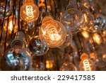 light bulbs  some on and some... | Shutterstock . vector #229417585
