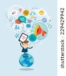 social media concept vector... | Shutterstock .eps vector #229429942