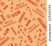 seamless retro pattern with... | Shutterstock .eps vector #229432192
