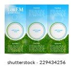 tri fold brochure template   Shutterstock .eps vector #229434256