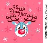 vector happy new year card with ... | Shutterstock .eps vector #229442062