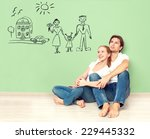 concept. young happy family... | Shutterstock . vector #229445332