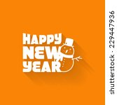 simple card for new year with a ... | Shutterstock .eps vector #229447936