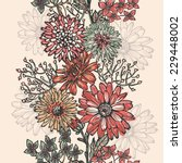 vintage floral vertical... | Shutterstock .eps vector #229448002