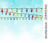 color christmas light bulbs on... | Shutterstock . vector #229451962