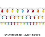 color christmas light bulbs on... | Shutterstock . vector #229458496
