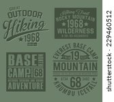 adventures mountain typography  ... | Shutterstock .eps vector #229460512