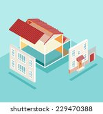 isometric house and its parts... | Shutterstock .eps vector #229470388