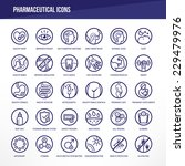 pharmaceutical medical icons...