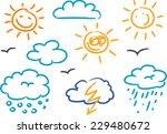 children's drawings of kids ... | Shutterstock . vector #229480672