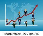 group of people with graph... | Shutterstock .eps vector #229486846