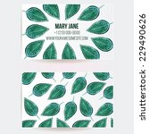 set of two sided creative... | Shutterstock .eps vector #229490626