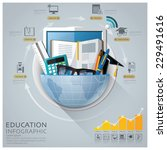 global education and graduation ... | Shutterstock .eps vector #229491616