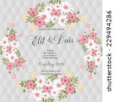 wedding invitation | Shutterstock .eps vector #229494286